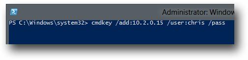cmdkey remote manage hyper-v