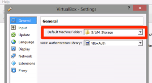 Virtualbox Default Machine Folder