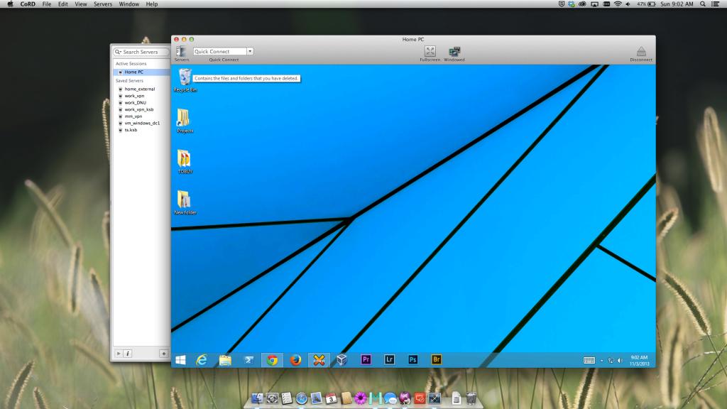 CoRD Remote Desktop App for Mac OS X