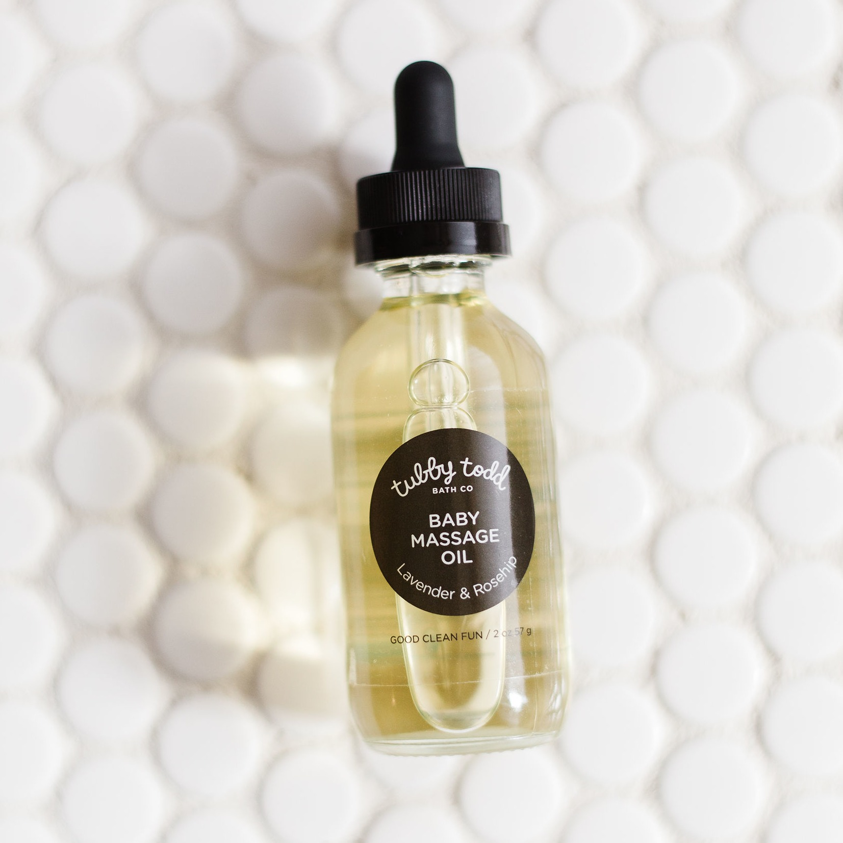 Customize hydration by mixing a few drops of Baby Massage Oil with your moisturizer of choice