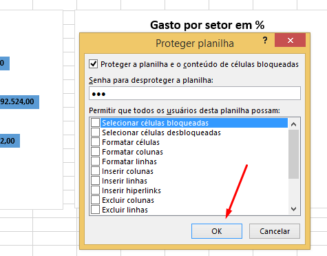 proteger planilhas no excel