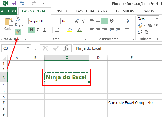 Cicando no Ninja do Excel