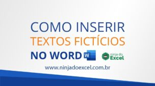 capa blog inserir texto ficticio no Word