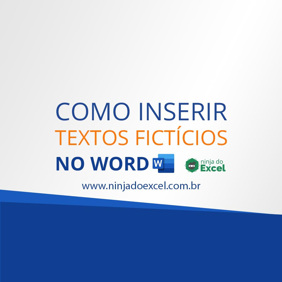 inserir texto ficticio no Word