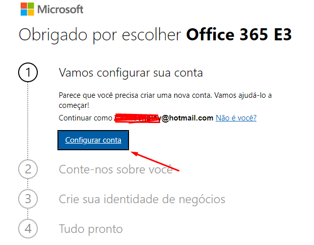 Configurar Conta Gratuita no Power BI