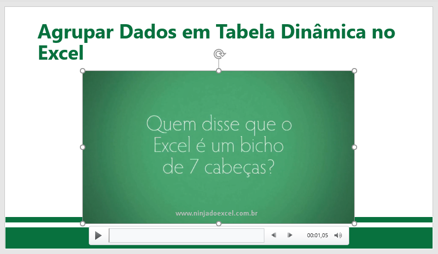 novo vídeo no PowerPoint