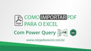 Como importar PDF para o Excel com o Power Query