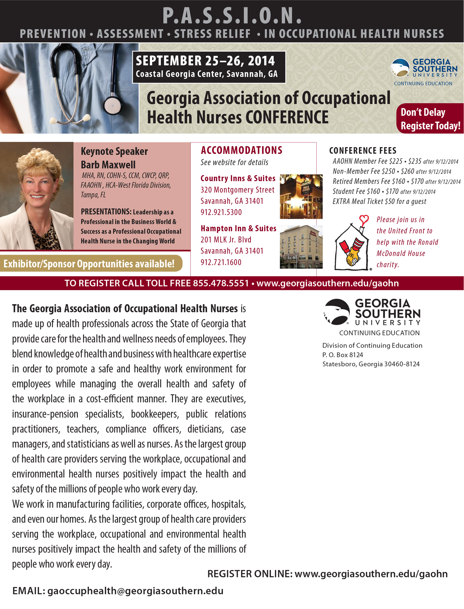 Georgia Association of Occupational Health Nurses Conference