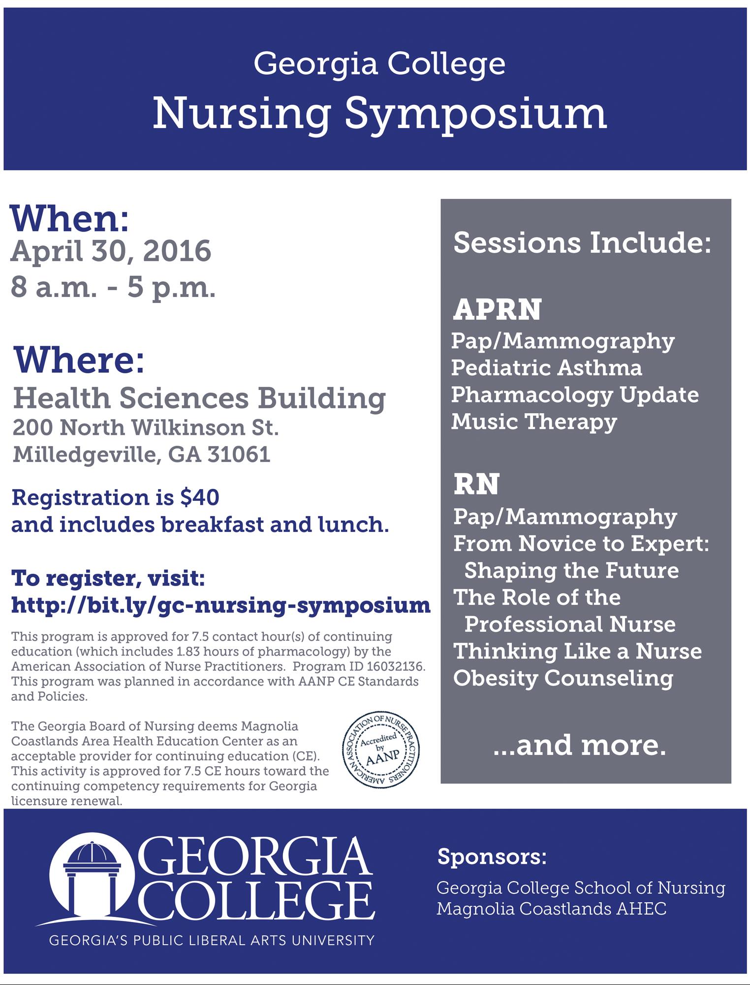 Georgia College Nursing Symposium