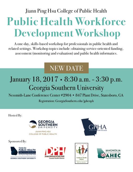 Public Health Workforce Development Workshop