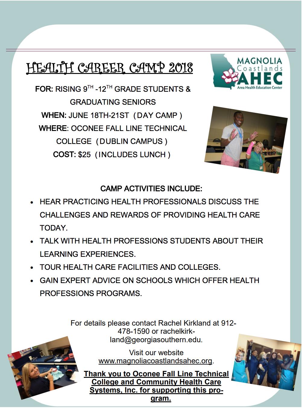 2018 Health Career Camp