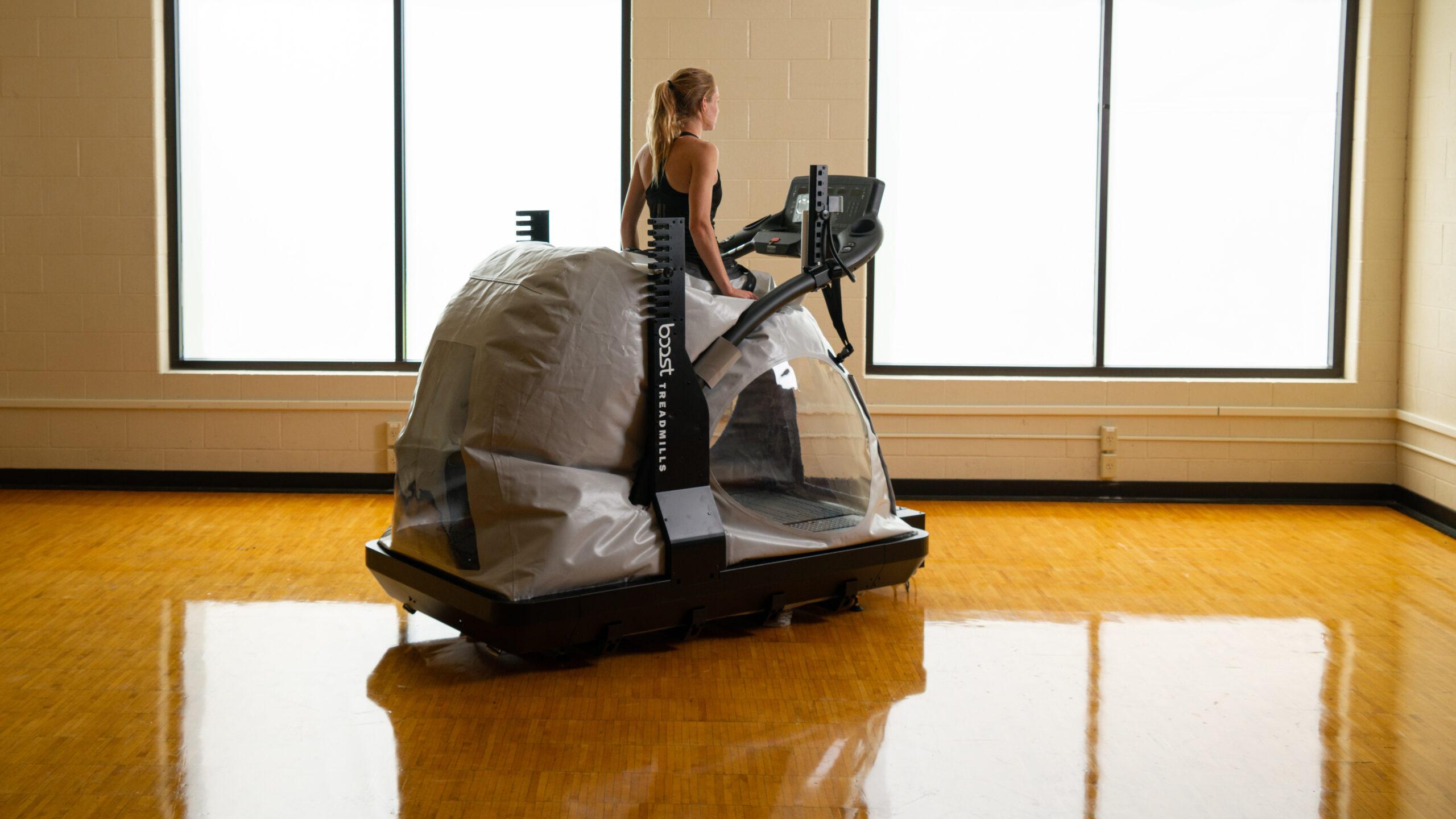 Runner using the Boost Treadmill.