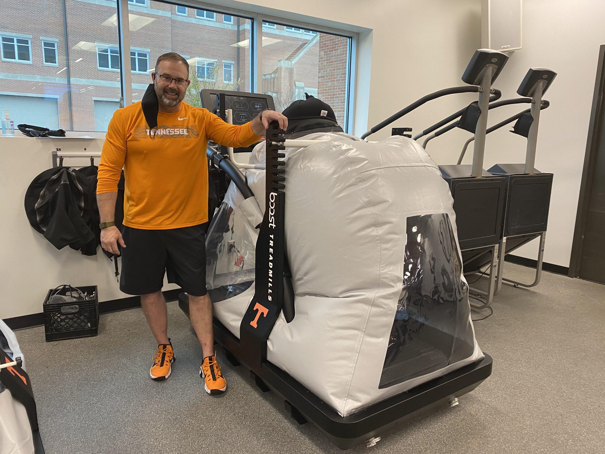 Dan Wirth with the Boost Treadmill