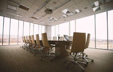Board room table in office in philadelphia