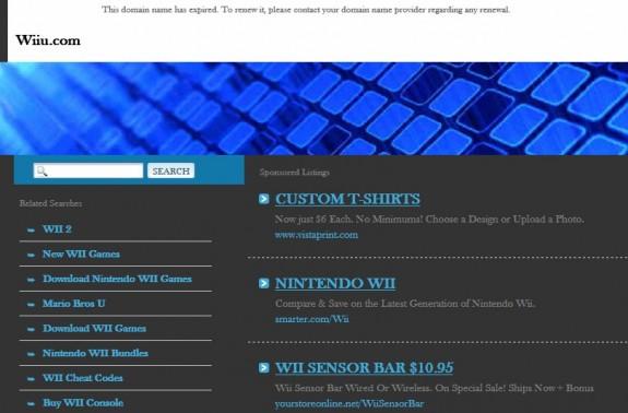 Wiiu.com domain expired