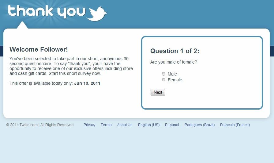Tweeter surveys