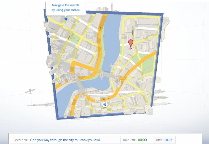 Google Maps Cube game