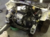Disassembled front end