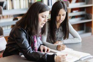 ESL teacher with student