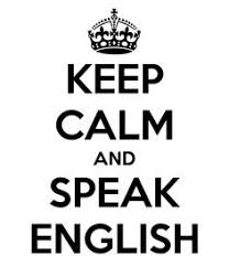 Keep Calm and Speak English sign