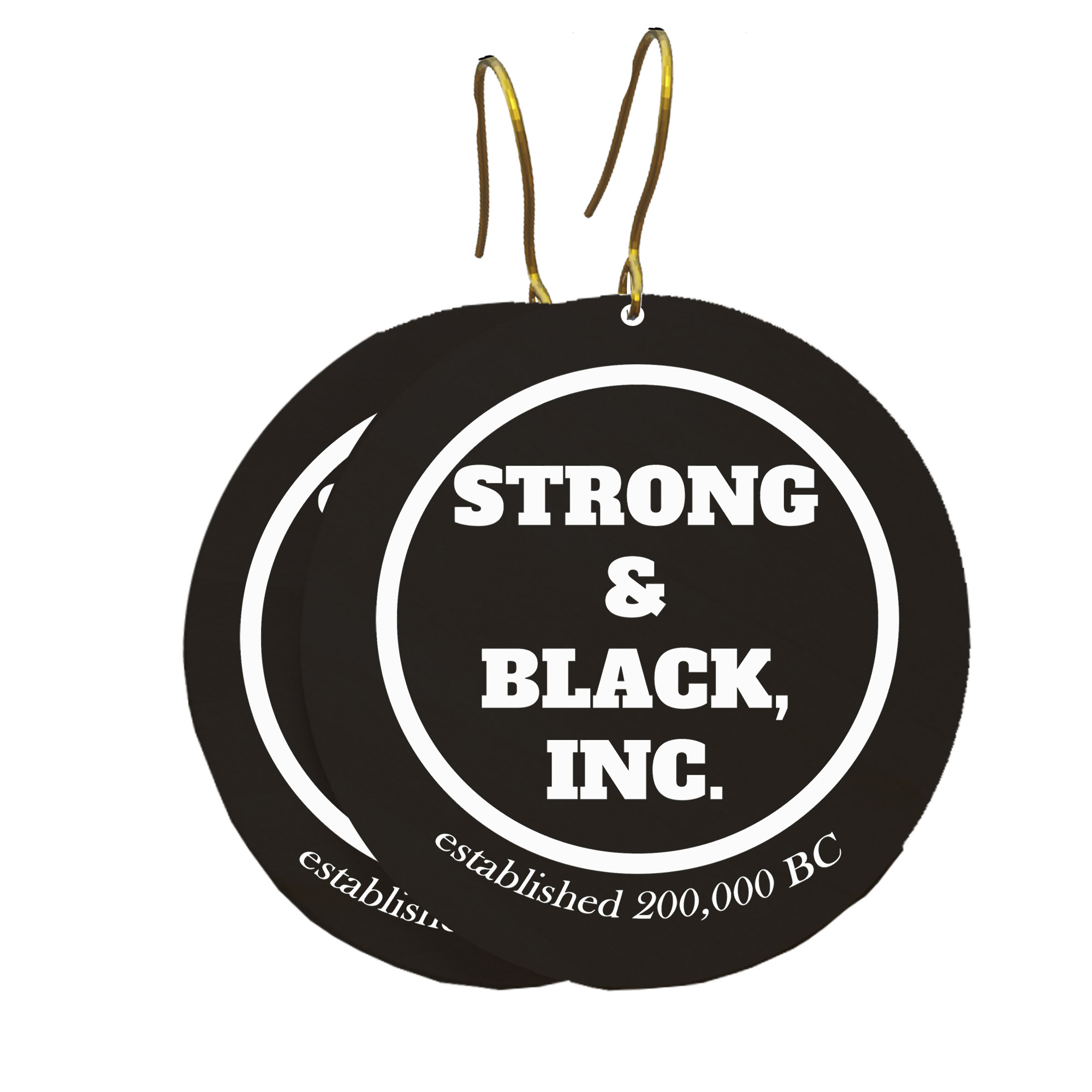 Strong and Black Earrings