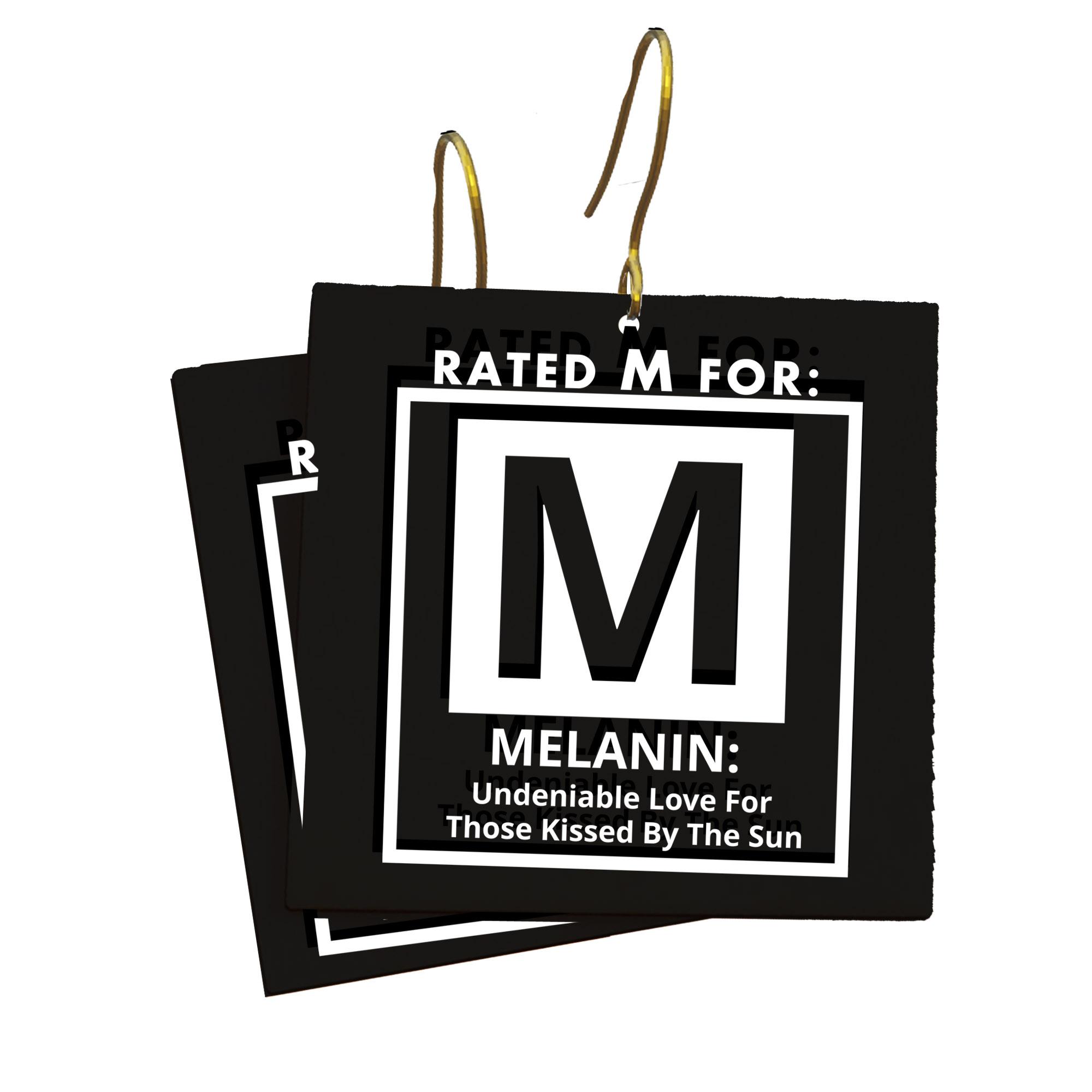 M for Melanin Earrings