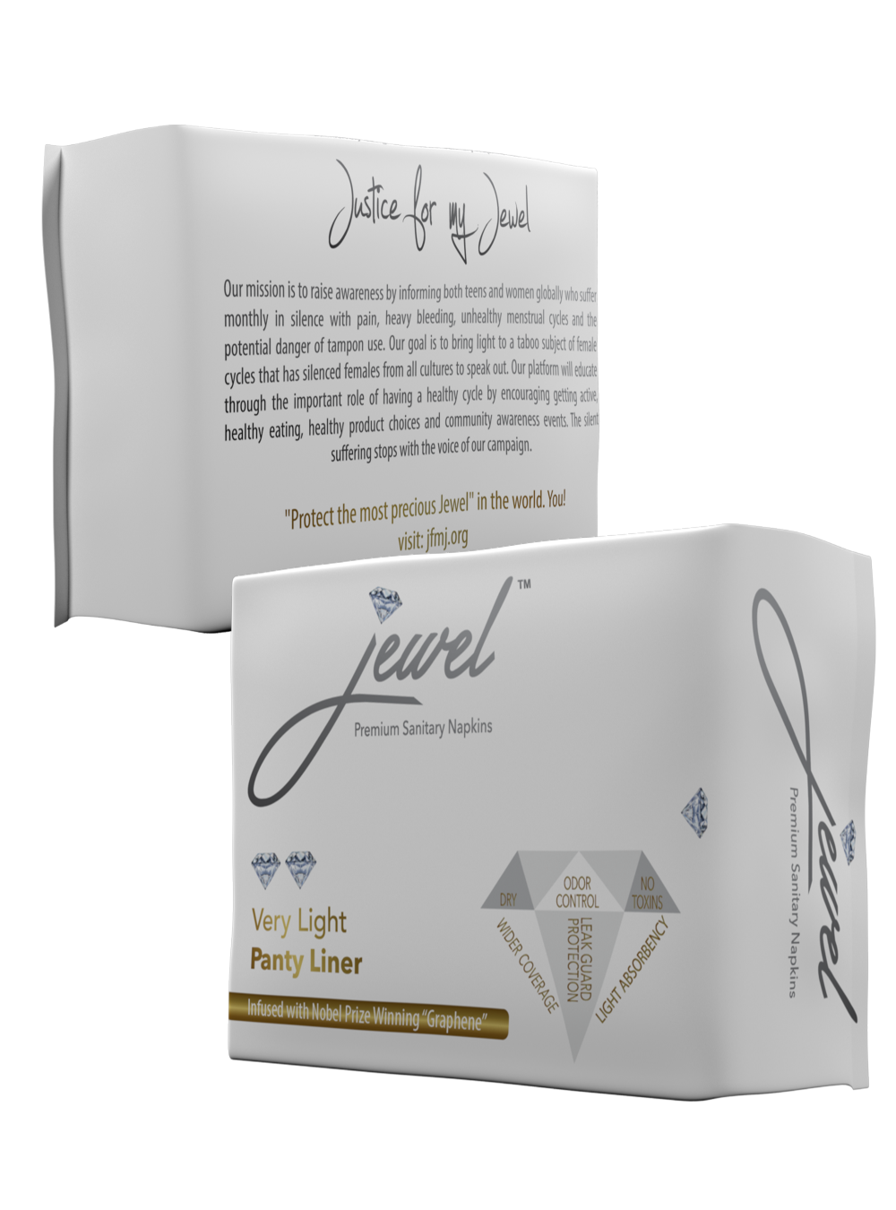 jewel – Very light panty liner w/wings – 20 pads