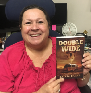 Deb A. holding Double Wide