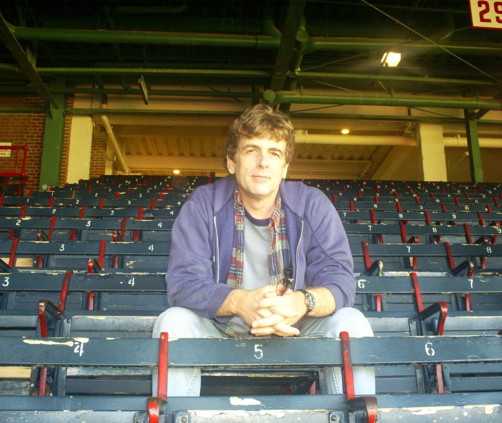 Me at Fenway Park. As a college kid, I practically lived in the bleachers at Fenway.