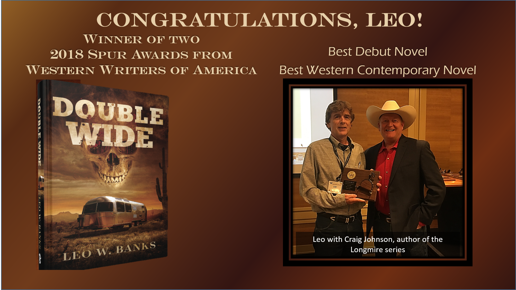 Leo with author Craig Johnson