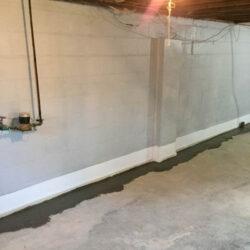 Basement Wall Waterproofed & Sealed With Epoxy | SouthernDry of Alabama