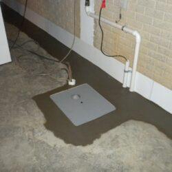 Square Sump Pump Basin Installed   SouthernDry of Alabama
