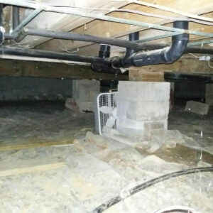 Before CrawlSpace Encapsulation | Wet & Humid | Greenville Alabama