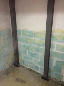 After Leaning Wall Repair   Basement I Beam   Birmingham Alabama Foundation Repair