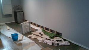 Before Basement Waterproofing & Sump Pump Installation   Riverside Alabama