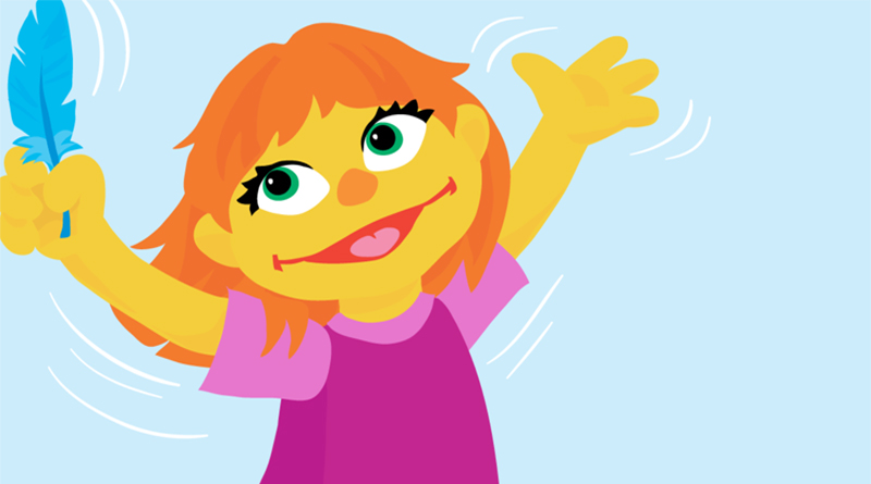 SESAME STREET'S NEW AUTISTIC CHARACTER JULIA, BY MARYBETH NELSON