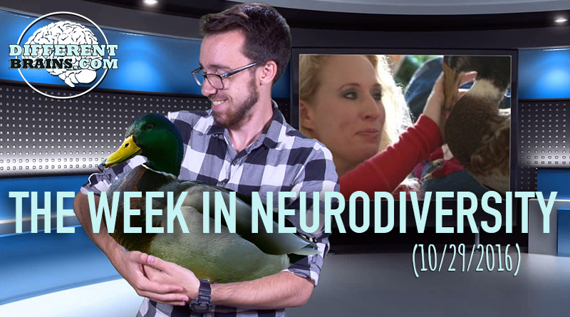 Week In Neurodiversity – A Therapy Duck For PTSD? (10/29/16)