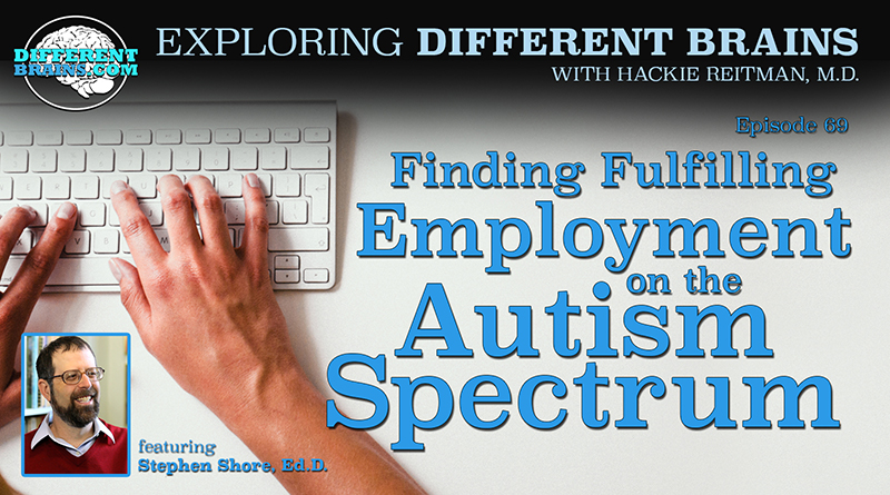 Finding Fulfilling Employment On The Autism Spectrum, With Dr. Stephen Shore   EDB 69