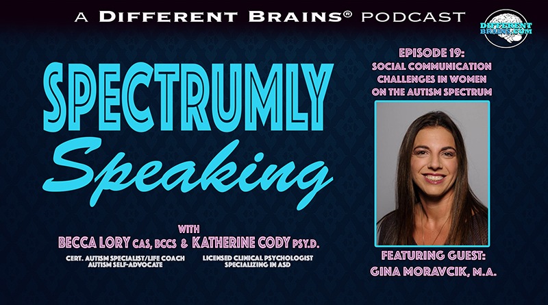 Social Communication Challenges In Women On The Autism Spectrum, With Gina Moravcik, M.A. | Spectrumly Speaking Ep. 19