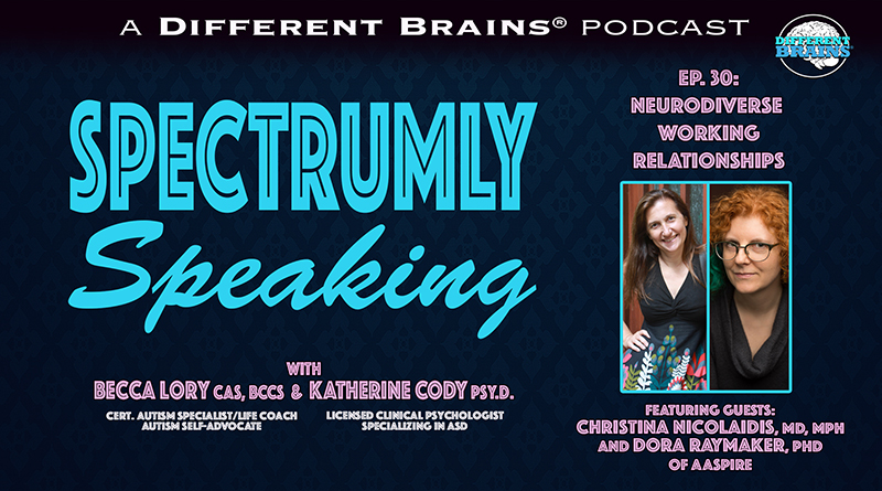 Neurodiverse Working Relationships, With Christina Nicolaidis, MD, MPH And Dora Raymaker, Ph.D. Of AASPIRE   Spectrumly Speaking Ep. 30