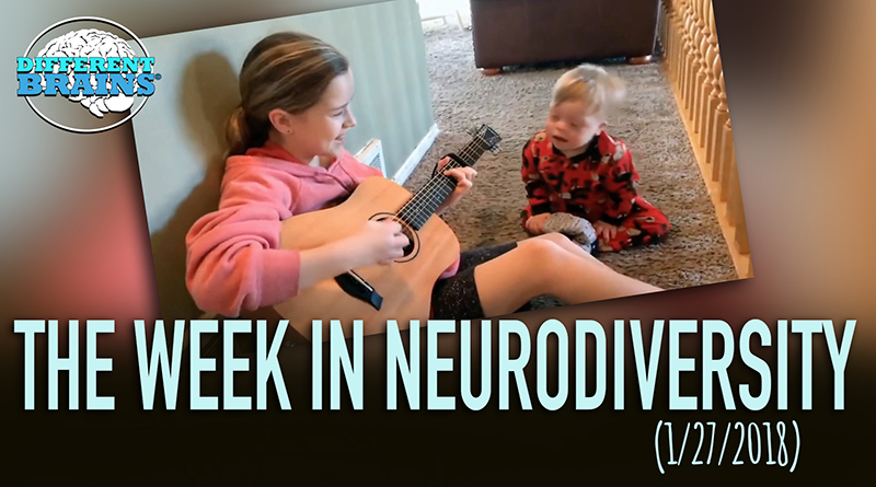 """Toddler With Down Syndrome & Sister Sings """"You Are My Sunshine"""" – Week In Neurodiversity (1/27/18)"""