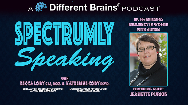 Building Resiliency In Women With Autism, With Jeanette Purkis   Spectrumly Speaking Ep. 39