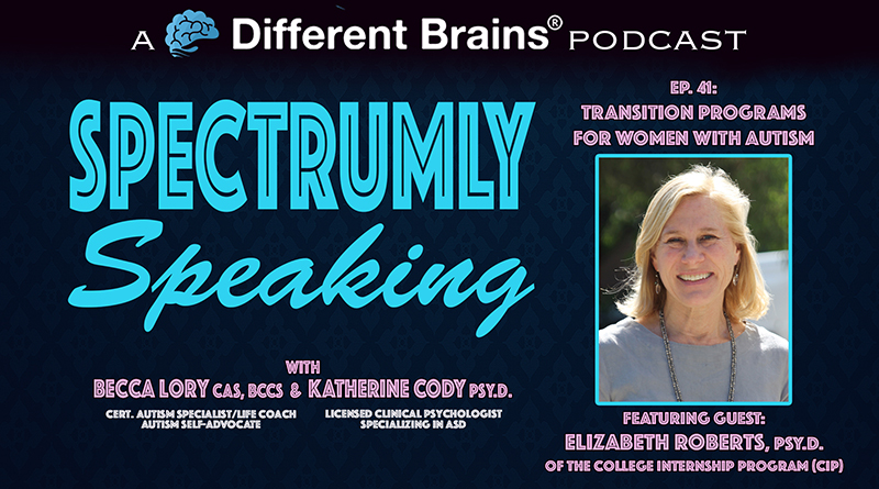 Transition Programs For Women With Autism, With Elizabeth Roberts, PsyD Of CIP   Spectrumly Speaking Ep. 41