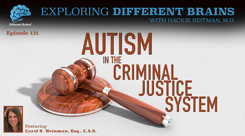 Autism In The Criminal Justice System, With Carol S. Weinman, Esq., C.A.S.   EDB 131