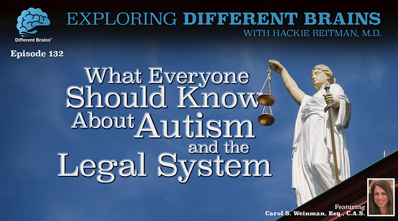 What Everyone Should Know About Autism And The Legal System, With Carol S. Weinman, Esq., C.A.S.   EDB 132