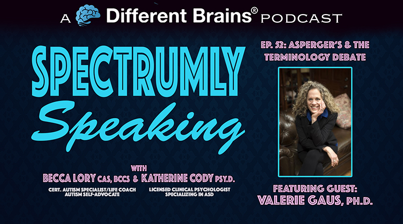 Asperger's & The Terminology Debate, With Valerie Gaus Ph.D. | Spectrumly Speaking Ep. 52