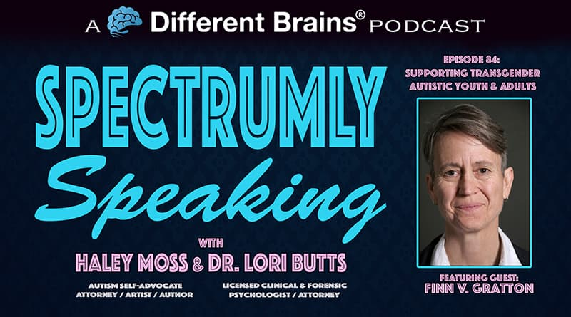 Cover Image - Supporting Transgender Autistic Youth & Adults, With Finn Gratton   Spectrumly Speaking Ep. 84