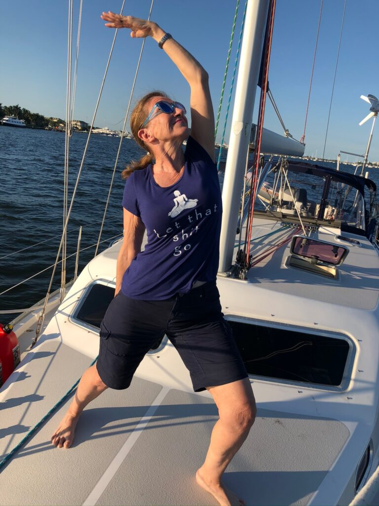 New Year's Eve boat yoga