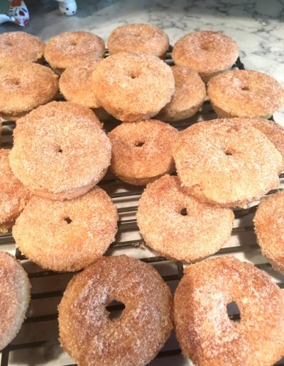 No bake Cinnamon Sugar Donuts