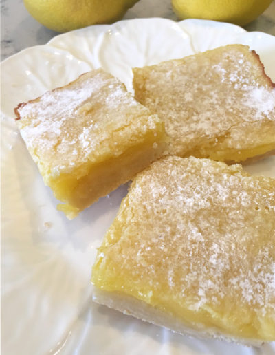 Lemon Bars, the perfect afternoon snack